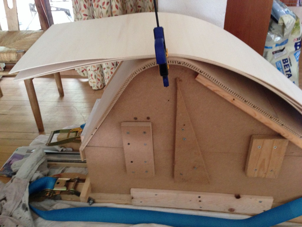 Mold for curved caravan seating