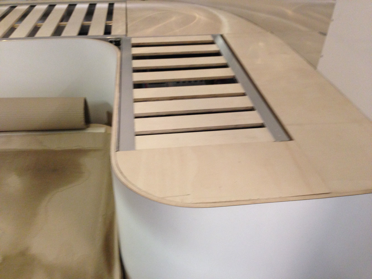 Curved Airstream Caravan Seating