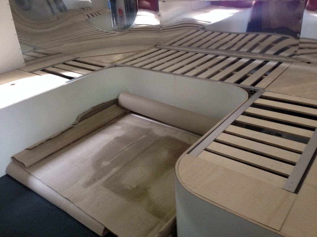 Curved Seating for Airstream Safari