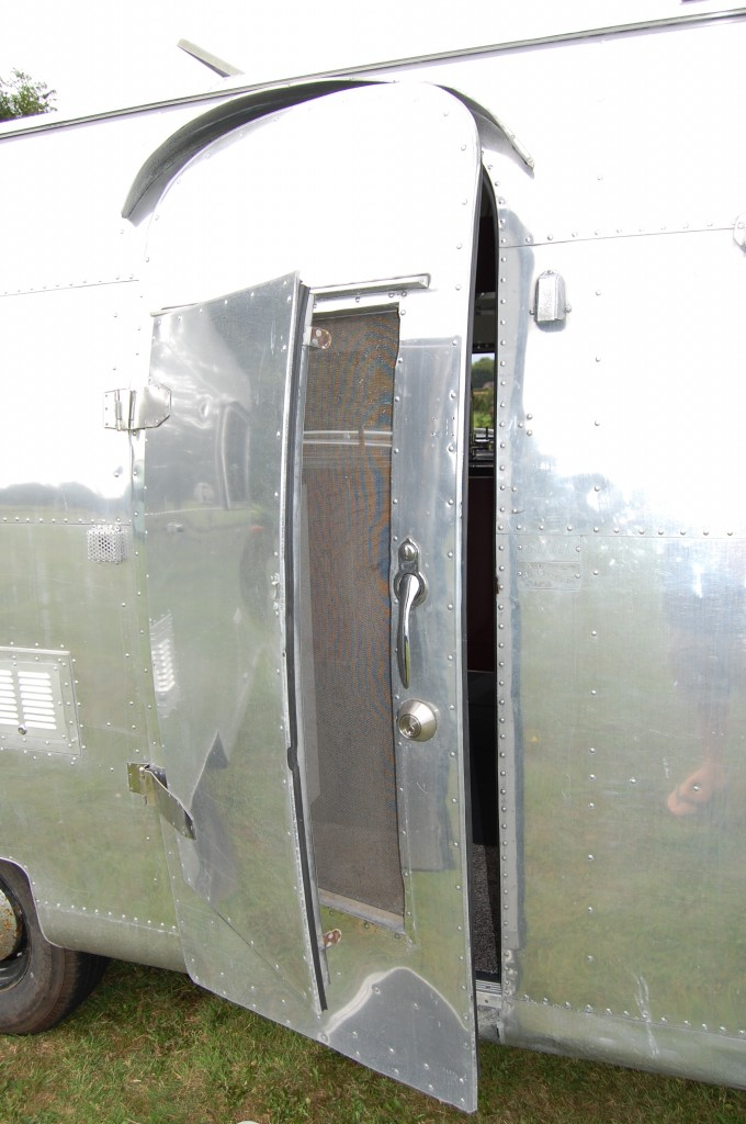 Vintage Airstream door-within-a-door