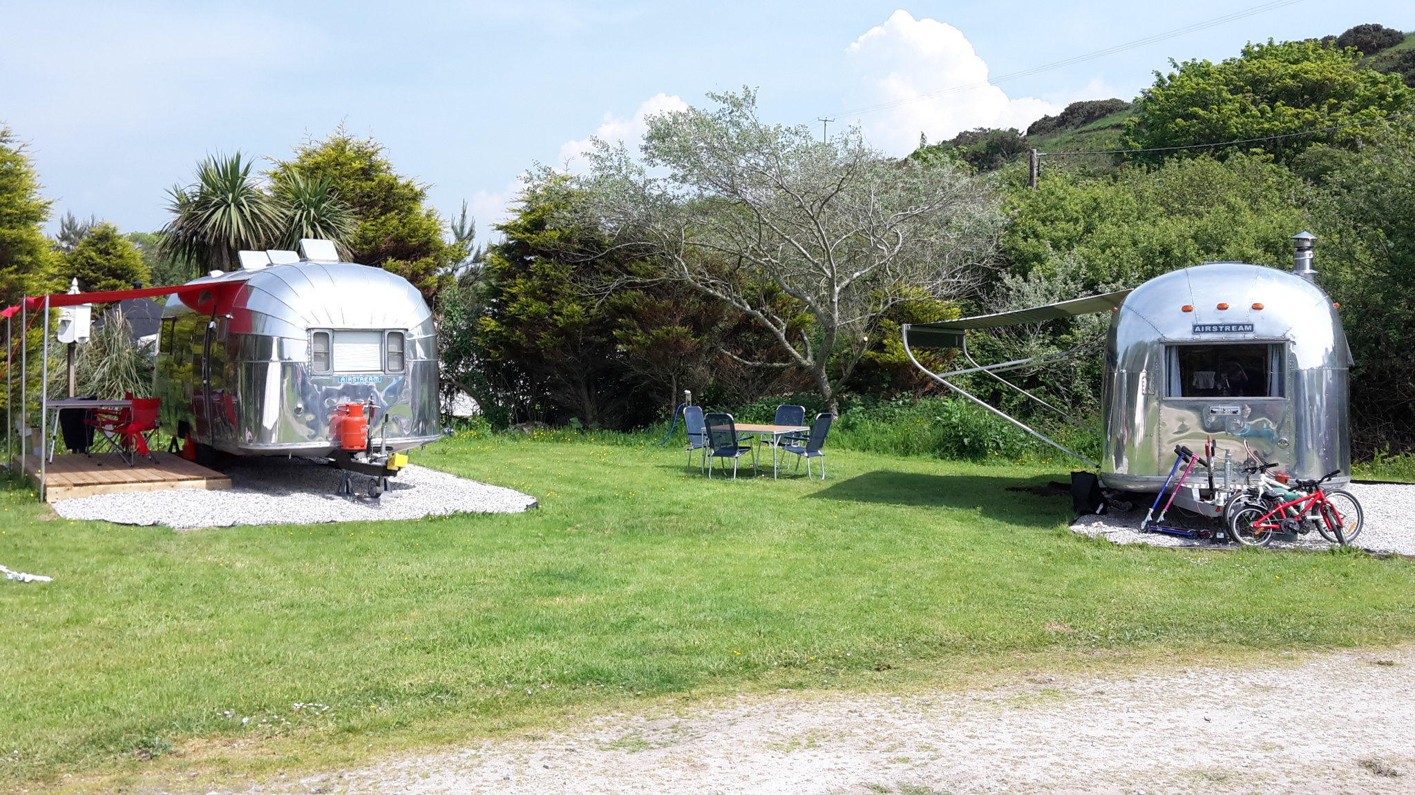Another Airstream at Coastal Valley Cornwall
